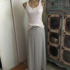 J.Crew striped jersey Maxi skirt Size small